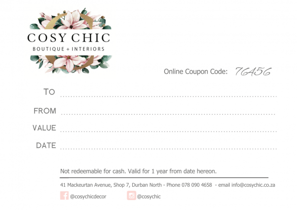Cosy Chic Gift Card